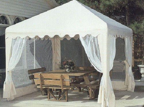13 x 13 garden party gazebo curtains pergola outdoor furniture canopy - Tent tuin pergola ...