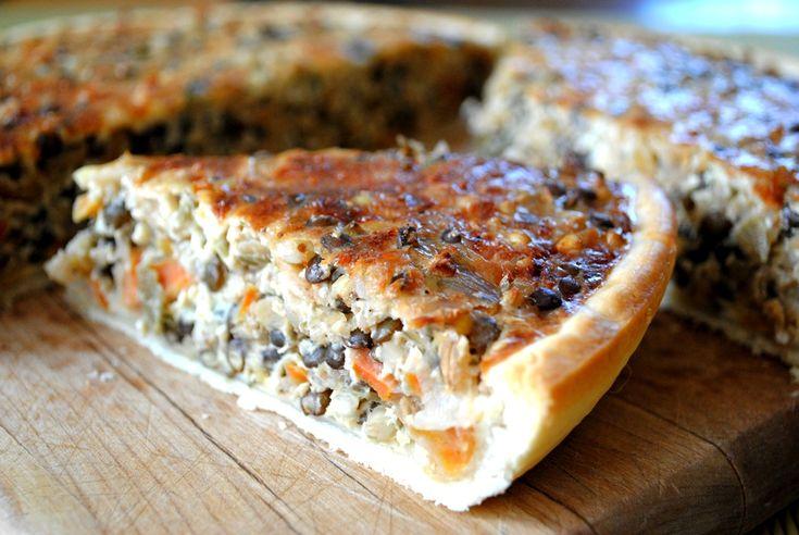 lentil vegetable quiche | Chicken or the Egg? | Pinterest