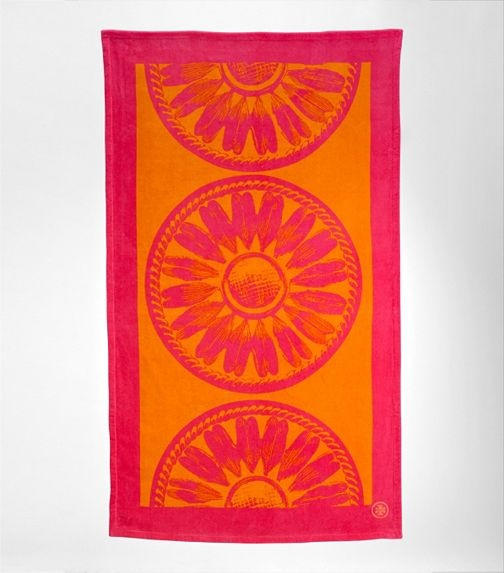 tory burch beach towel