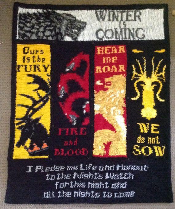 Game of Thrones Handmade Crochet Blanket