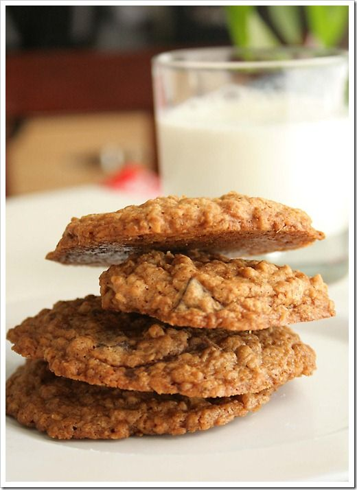 Chocolate Chunk Double Oatmeal Cookies makes 36 1 cup Softened Salted ...