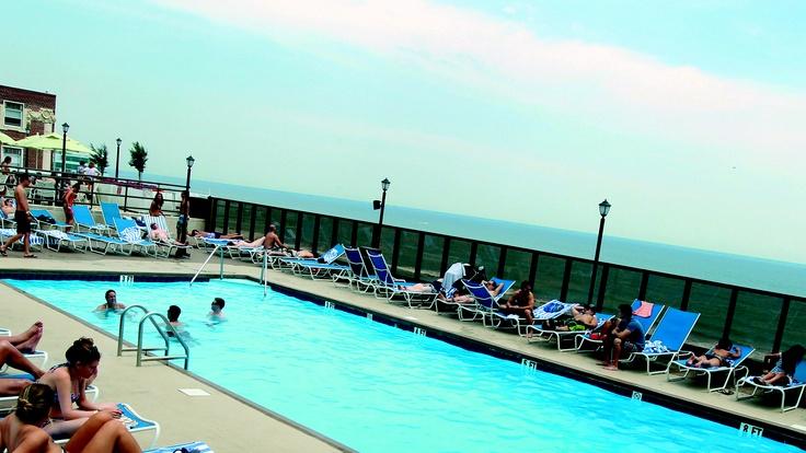 outdoor pool at tropicana atlantic city atlantic city. Black Bedroom Furniture Sets. Home Design Ideas