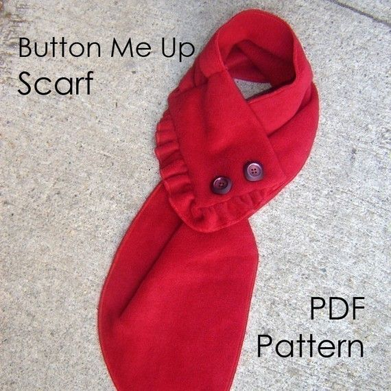 Button Me Up Scarf Sewing Patterns Neck Scarves