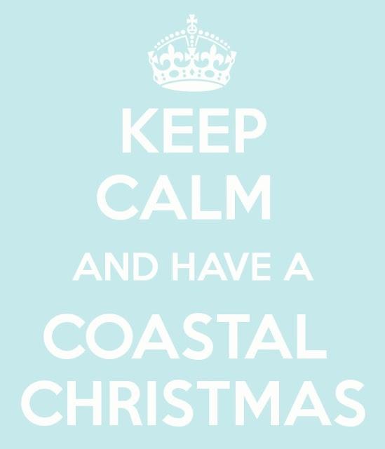 """Keep calm and have a Coastal Christmas"" Facebook: Anna Maria Island Beach Life www.annamariaislandhomerental.com"