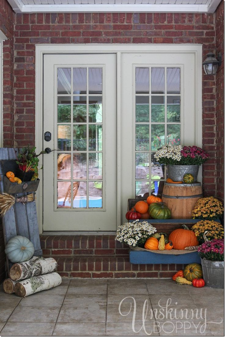 fall d cor ideas for the back porch porch ideas pinterest