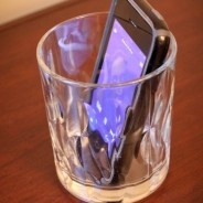 Use a glass to amplify your phone or ipod.  Awesome site w/ tons of ideas!
