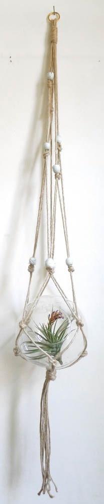 Cold Picnic — Asymmetrical Beaded Plant Hanger