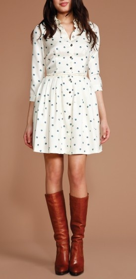 Polka Dots and knee long boots