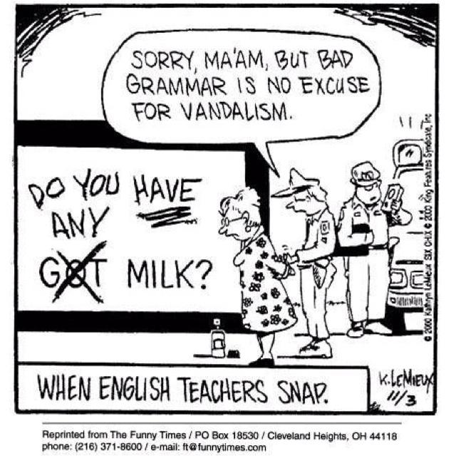 When English teachers snap. Funny!   For my teacher ... English Teacher Funny