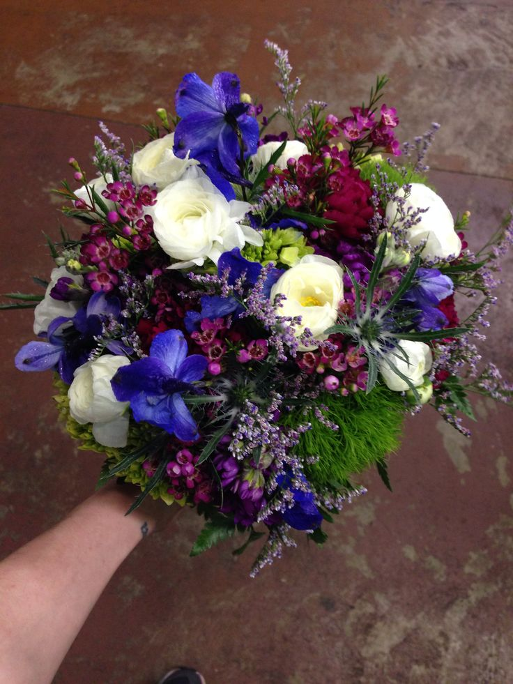 White And Jewel Tone Bridal Bouquet Wedding Flowers Memphis Tn