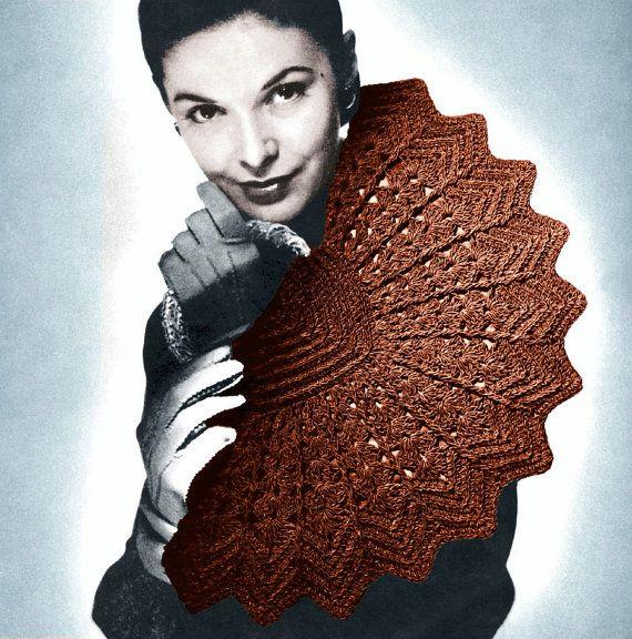 Vintage Crochet Clutch Pattern : Vintage 1940s Crochet Pattern Pinwheel Fan Purse Handbag Clutch Digit ...