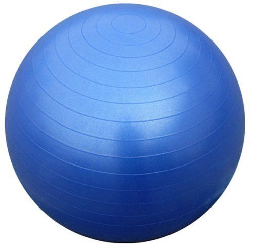 Gym ball exercise ball 65cm blue with dual action hand for Housse ballon yoga