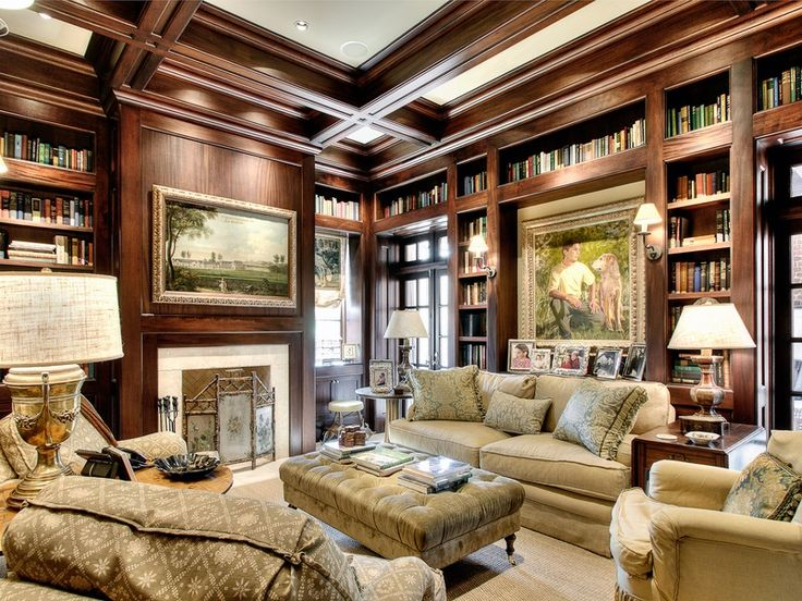 Cozy Library Room With A Hue Pinterest