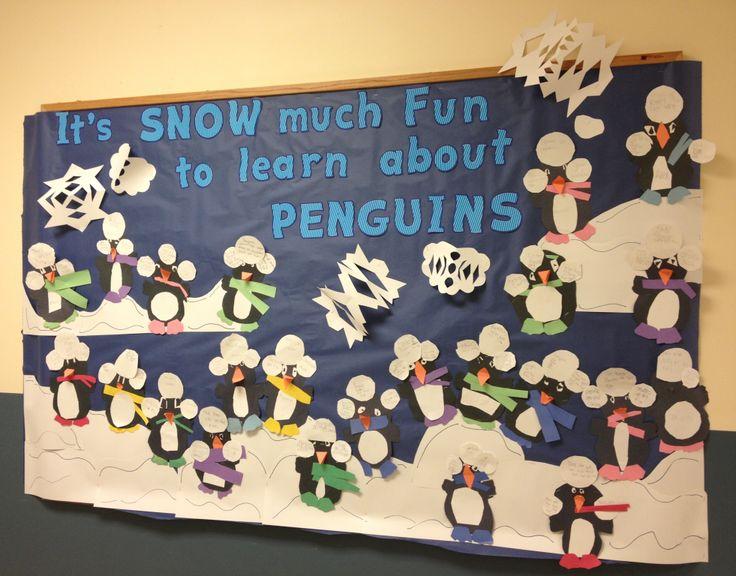 January's penguin bulletin board | school ideas | Pinterest