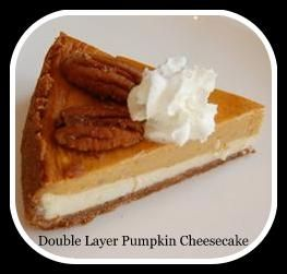 Double Layer Pumpkin Cheesecake I made this and brought it in to work ...