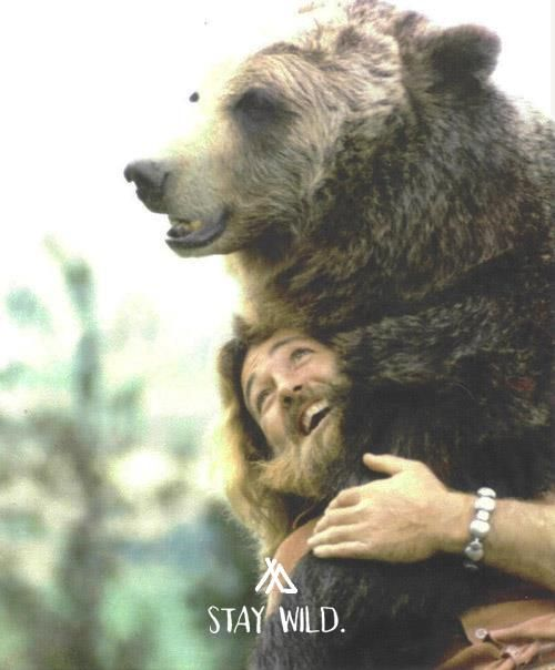 stay wild Awwwww, Grizzly Adams and Ben!! I can sing that theme song right now....:)
