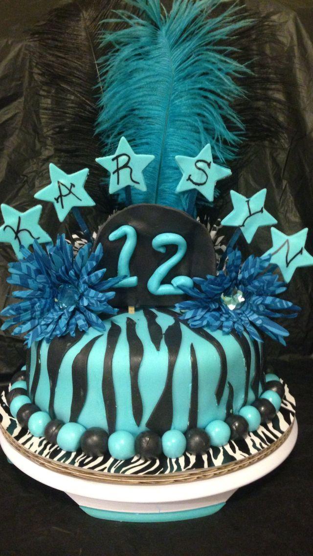 Decorating Ideas > My Blue Zebra Print Birthday Cake!  Birthday Ideas  ~ 195526_Birthday Party Ideas Zebra Print