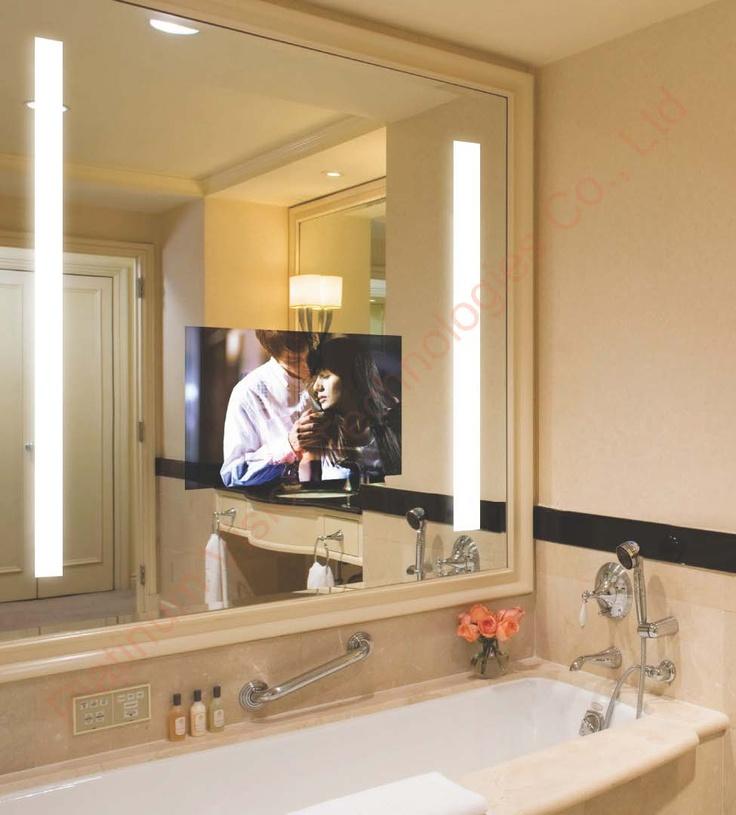mirror tv multitasking bathroom concord social