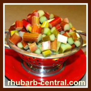 ... fresh OR frozen rhubarb, add mint or rose water to rhubarb if desired