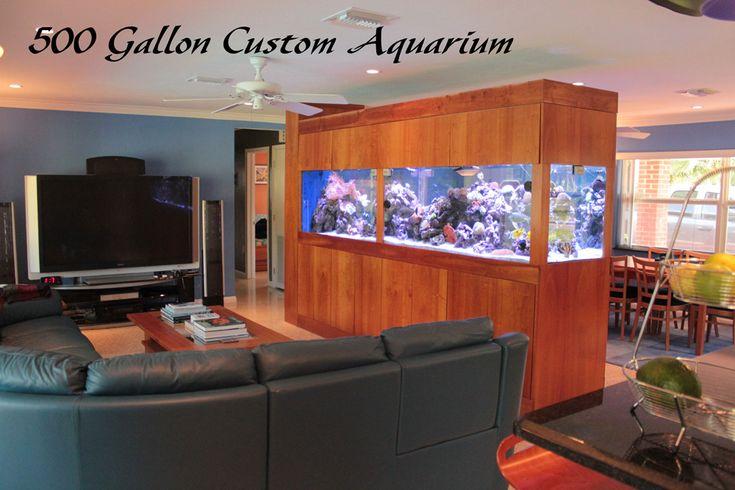 Room Divider Aquarium Art Saltwater Tank Ideas Pinterest