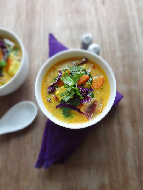Thai inspired coconut quinoa soup: ginger, turmeric, curry powder ...