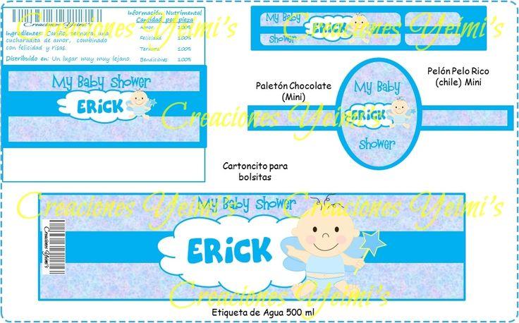 ETIQUETAS DE AGUA para baby shower para niña para imprimir gratis ...