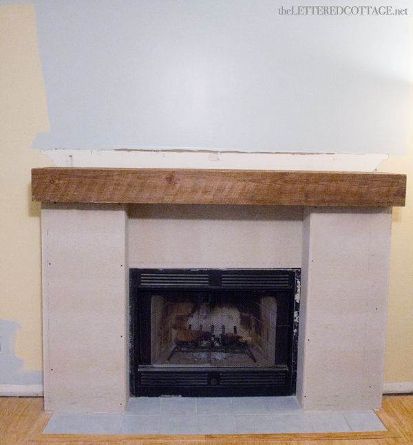 Fireplace Makeover Rustic DIY Redo 1085 Ideas Pinterest