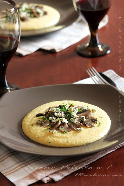Creamy polenta with mushrooms | Party food | Pinterest