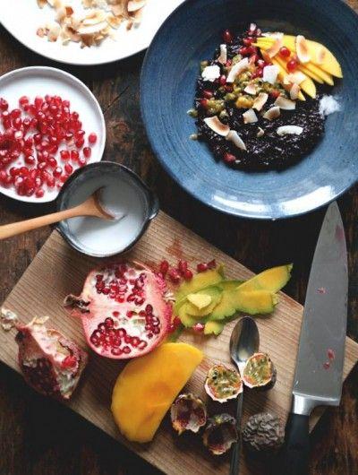 coconut rice breakfast black rice porridge with coconut cream recept ...
