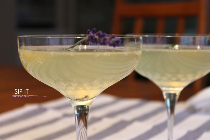 Lavender French 75 Recipe — Dishmaps