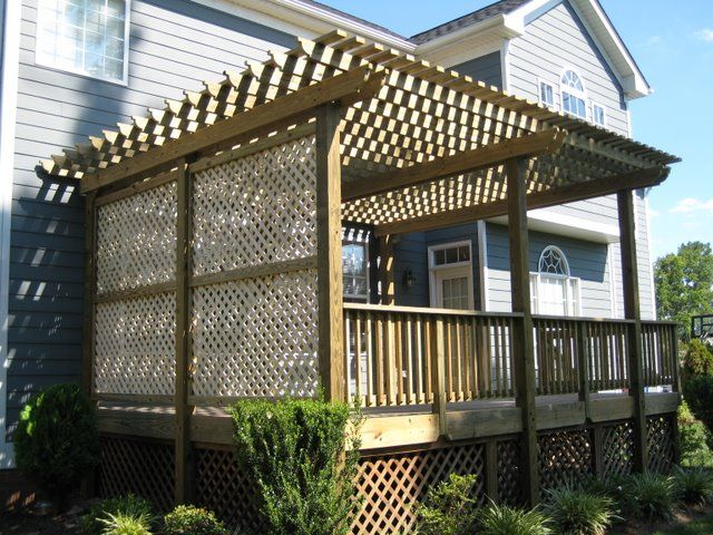 lattice wall and trellis on deck deck styles builds