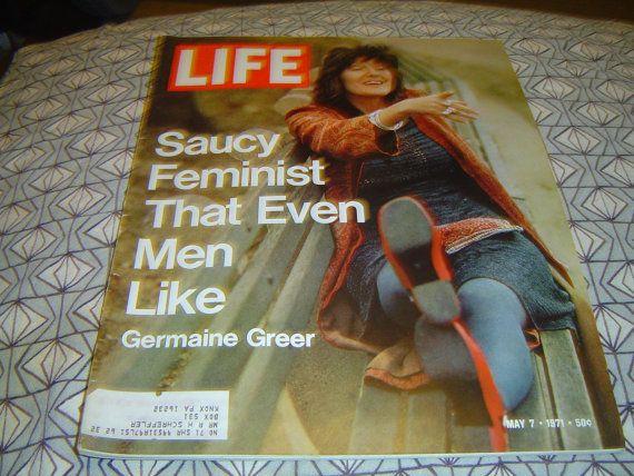 LIFE Germaine Greer Saucy Feminist That Even Men Like by LONLAR803, $10.00
