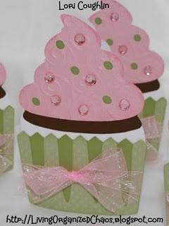 Cricut cupcake invitations