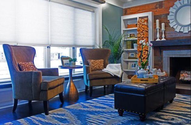 Blue and orange living room house beautiful pinterest - Blue and orange living room ...