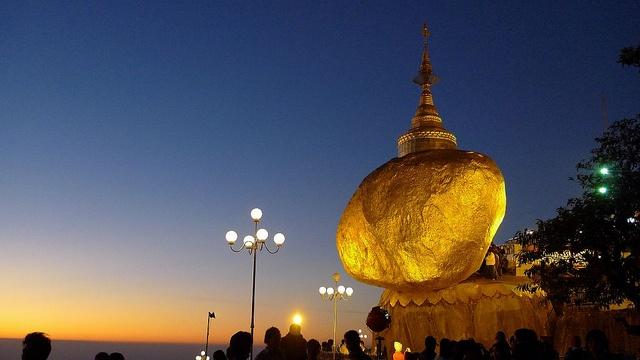 Kyaikhtiyo (Golden Rock), from the Flickr album of naca3.