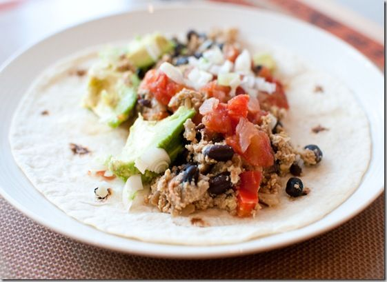 Black Bean and Red Pepper Breakfast Burrito