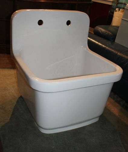 Laundry Sink Wall Mount : KOHLER wall-mount/top-mount single-bowl kitchen sink Laundry White