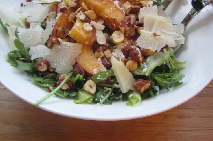 Asparagus Ribbon & Peach Salad (exclude Pecorino Romano)