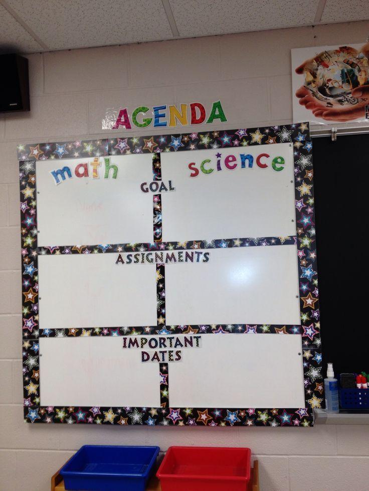 Classroom agenda template