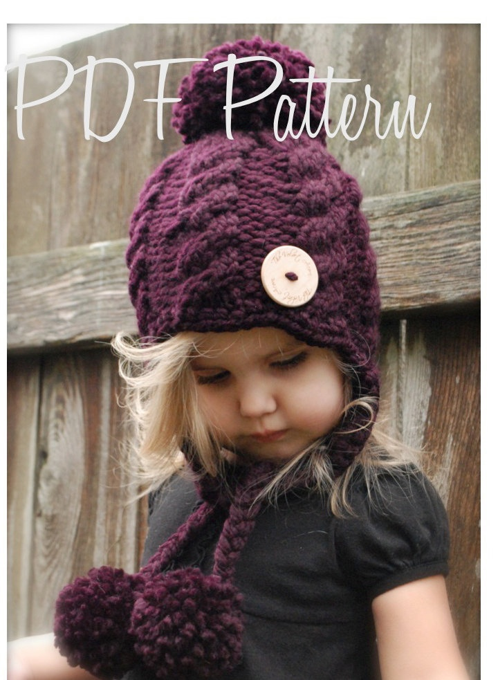 Knitting PATTERN-The Roxie Hat (12/18 months, Toddler, Child, Adult s?