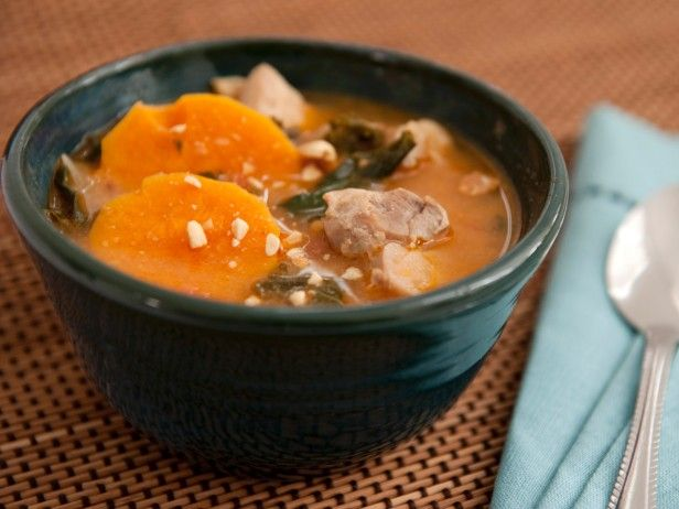 West African Peanut Soup With Sweet Potatoes from CookingChannelTV.com