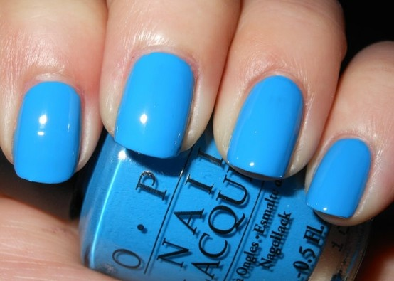 OPI  Ogre the Top Blue  light blue nail polish   quot  O Opi Nail Polish Light Blue