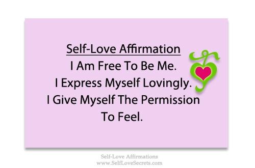 affirmations for self love pdf
