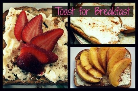 of whole wheat toast and top with fruit, dried fruit, nuts, honey ...