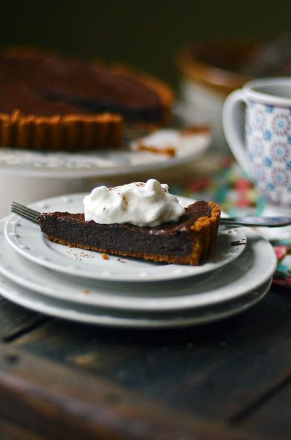 ... gingersnap pie crust dark chocolate tart with gingersnap crust rezept