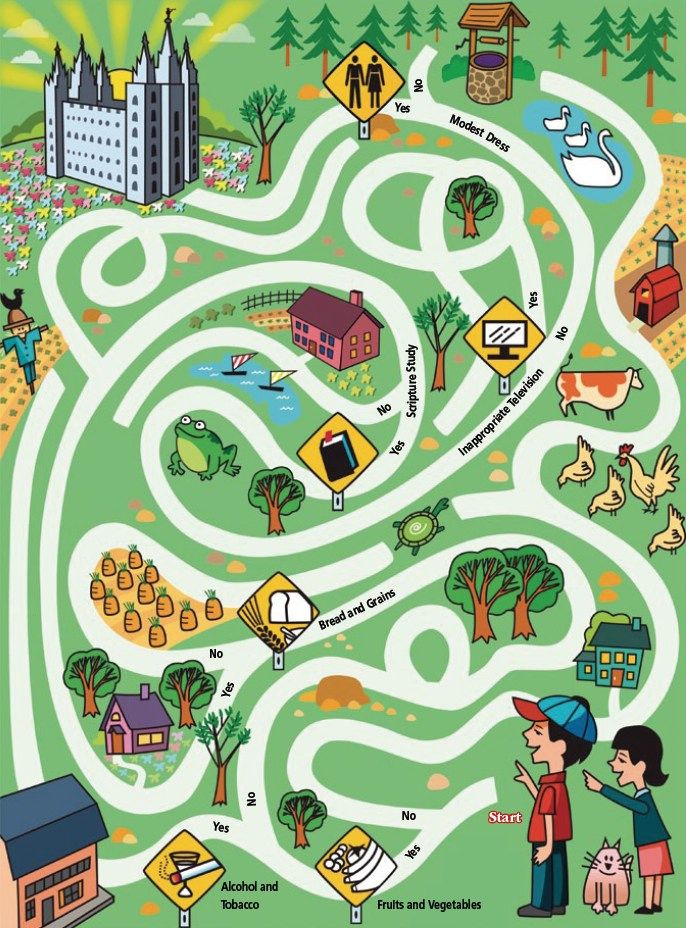 LDS Games Mazes The Temple Family Home Evening Pinterest