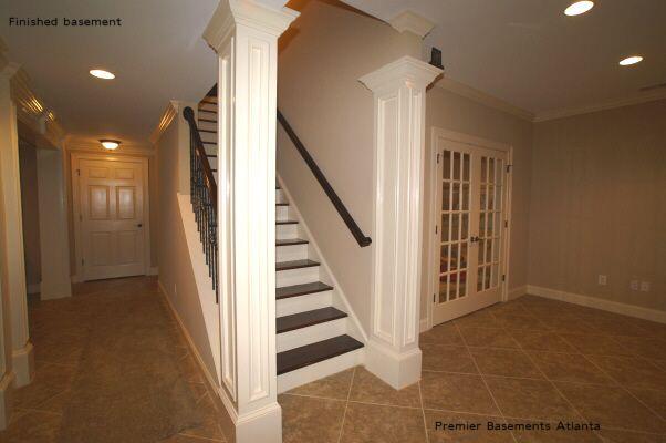 basement stairs railing home pinterest