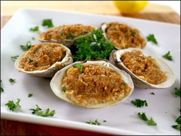 Baked Stuffed Clam | Seafood | Pinterest