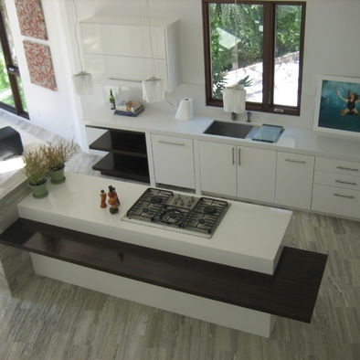 Kitchen Island Designs  Seating on Kitchen Island With Attached Seating Design  Pictures  Remodel  Decor