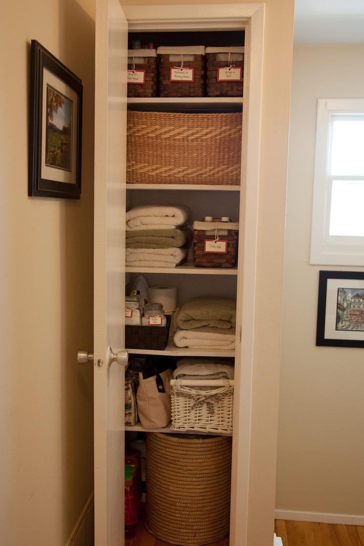 Organize your linen closet organizing pinterest for Linen closet designs